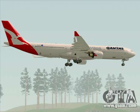 Airbus A330-300 Qantas (New Colors) for GTA San Andreas wheels