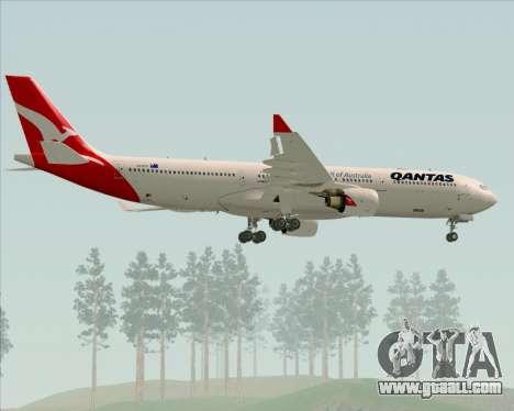Airbus A330-300 Qantas (New Colors) for GTA San Andreas wheels