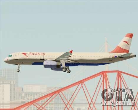 Airbus A321-200 Austrian Airlines for GTA San Andreas wheels
