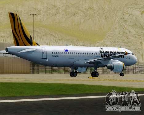 Airbus A320-200 Tigerair Australia for GTA San Andreas wheels