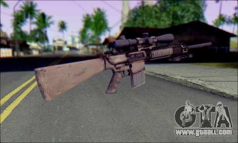 M110 with an Optical sight for GTA San Andreas second screenshot