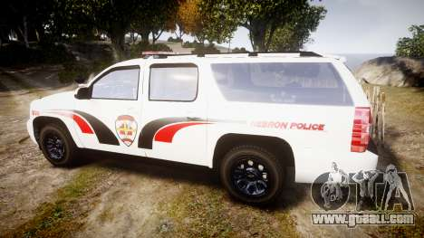 Chevrolet Suburban 2008 Hebron Police [ELS] Red for GTA 4 left view