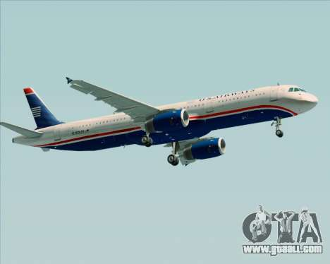 Airbus A321-200 US Airways for GTA San Andreas back view