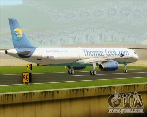 Airbus A321-200 Thomas Cook Airlines for GTA San Andreas side view