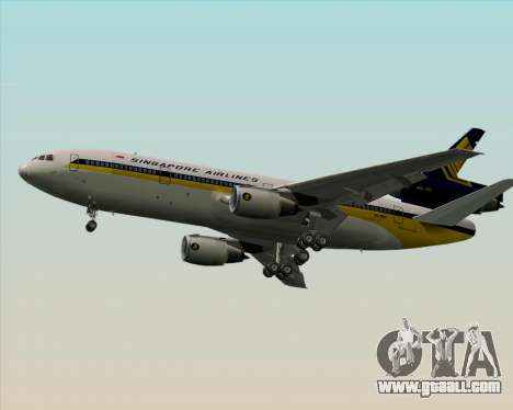McDonnell Douglas DC-10-30 Singapore Airlines for GTA San Andreas right view