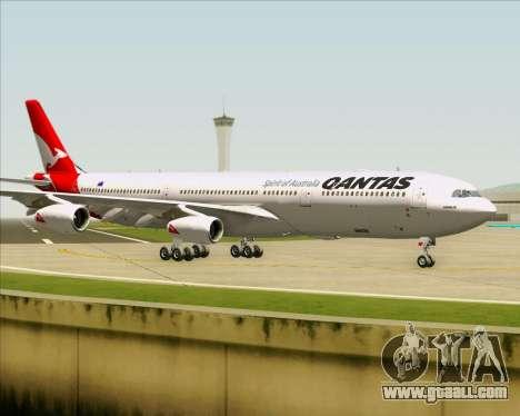 Airbus A340-300 Qantas for GTA San Andreas inner view