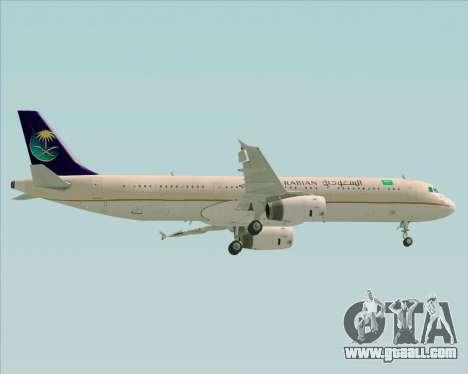 Airbus A321-200 Saudi Arabian Airlines for GTA San Andreas upper view
