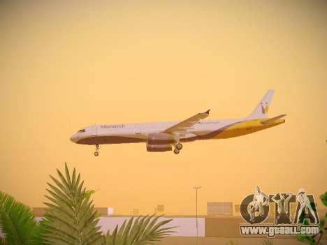 Airbus A321-232 Monarch Airlines for GTA San Andreas interior