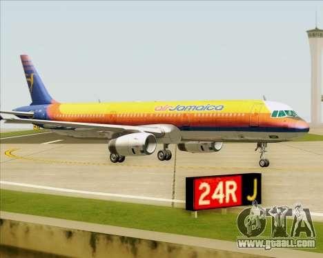 Airbus A321-200 Air Jamaica for GTA San Andreas upper view