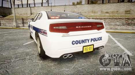 GTA V Bravado Buffalo Liberty Police [ELS] Slick for GTA 4 back left view