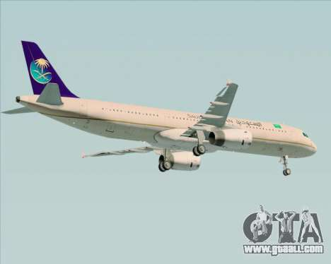 Airbus A321-200 Saudi Arabian Airlines for GTA San Andreas side view