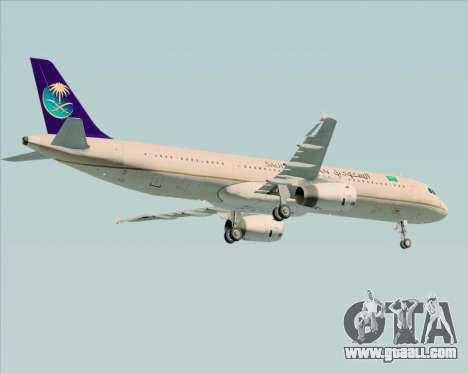 Airbus A321-200 Saudi Arabian Airlines for GTA San Andreas side view