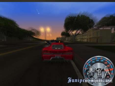 Classic metal speedometer for GTA San Andreas sixth screenshot