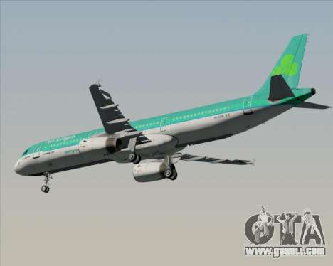 Airbus A321-200 Aer Lingus for GTA San Andreas inner view