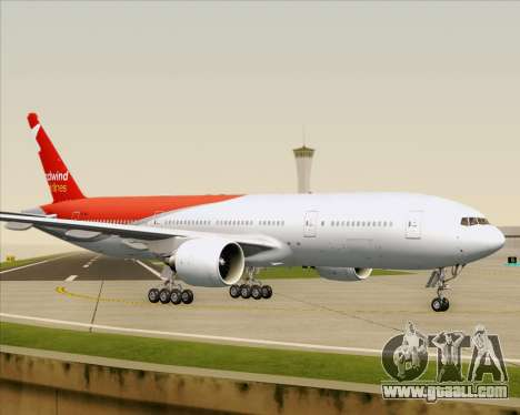 Boeing 777-21BER Nordwind Airlines for GTA San Andreas bottom view