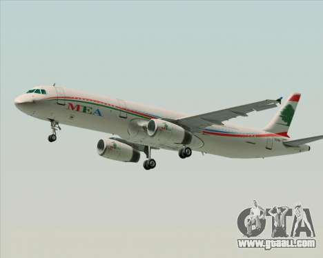 Airbus A321-200 Middle East Airlines (MEA) for GTA San Andreas left view