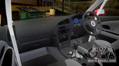 Mitsubishi Lancer Evolution VI Rally Marlboro for GTA 4 back view