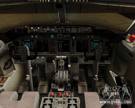 Boeing 737-800 Gol Transportes Aéreos for GTA San Andreas interior