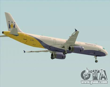 Airbus A321-200 Monarch Airlines for GTA San Andreas side view