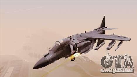 EMB AV-8 Harrier II USA NAVY for GTA San Andreas back left view