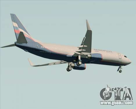 Boeing 737-8LJ Aeroflot - Russian Airlines for GTA San Andreas back view