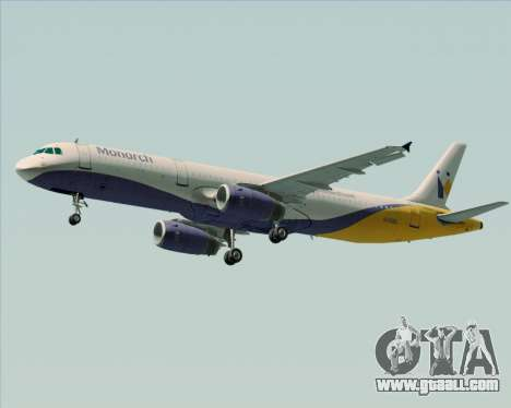 Airbus A321-200 Monarch Airlines for GTA San Andreas inner view