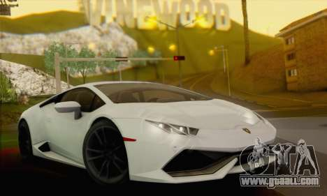 Lamborghini Huracan 2014 for GTA San Andreas