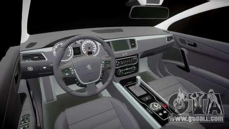 Peugeot 508 v1.2 for GTA 4 inner view