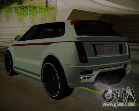 Huntley S for GTA San Andreas left view