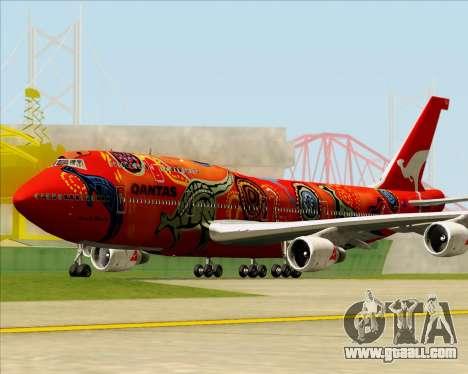 Boeing 747-400ER Qantas (Wunala Dreaming) for GTA San Andreas left view