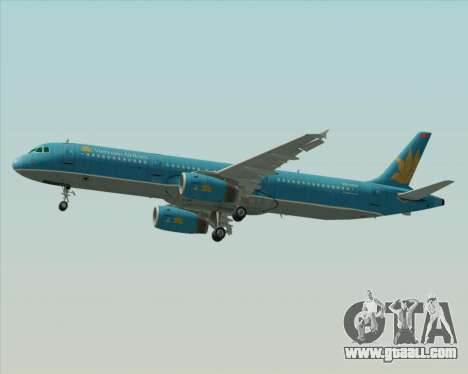 Airbus A321-200 Vietnam Airlines for GTA San Andreas side view