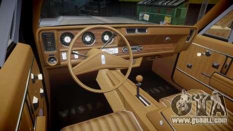 Oldsmobile Vista Cruiser 1972 Rims2 Tree3 for GTA 4 back view