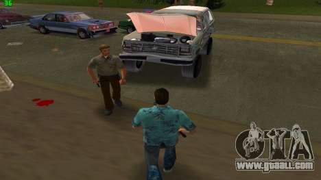 Ford Bronco 1985 for GTA Vice City back view