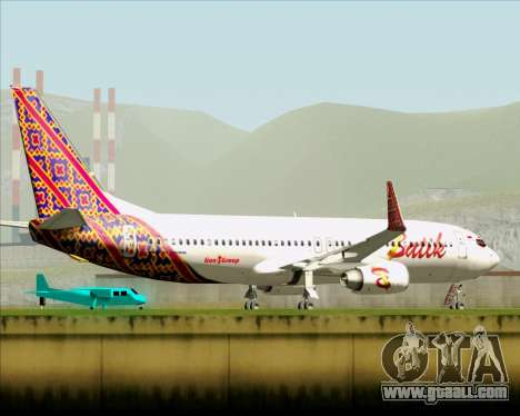 Boeing 737-800 Batik Air for GTA San Andreas upper view
