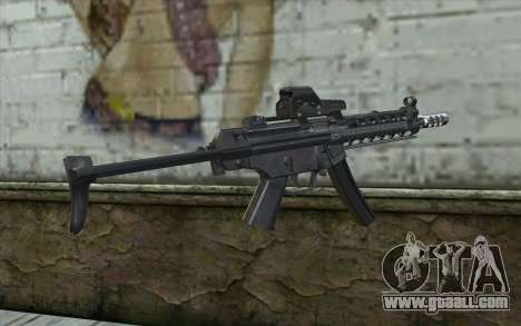 Silver MP5 for GTA San Andreas second screenshot