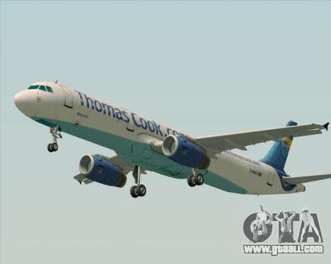 Airbus A321-200 Thomas Cook Airlines for GTA San Andreas inner view