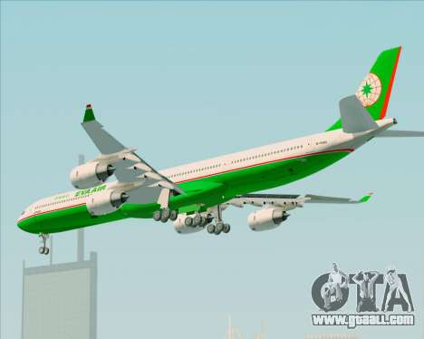Airbus A340-600 EVA Air for GTA San Andreas back view