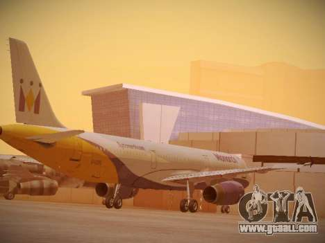 Airbus A321-232 Monarch Airlines for GTA San Andreas right view