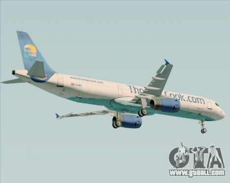 Airbus A321-200 Thomas Cook Airlines for GTA San Andreas back view