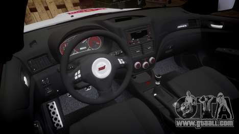Subaru Impreza Cosworth STI CS400 2010 Custom for GTA 4 back view