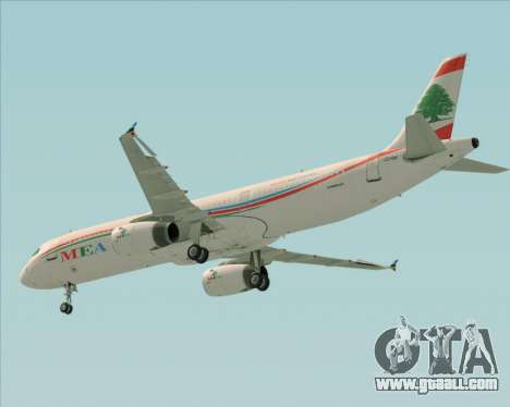 Airbus A321-200 Middle East Airlines (MEA) for GTA San Andreas side view