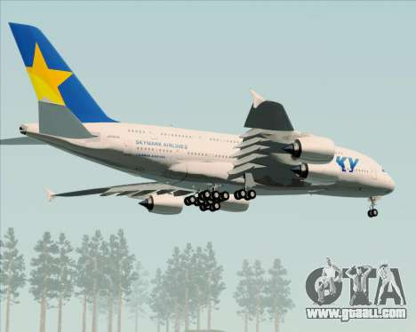 Airbus A380-800 Skymark Airlines for GTA San Andreas inner view