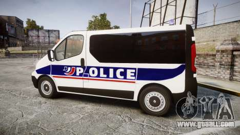 Renault Trafic Police Nationale for GTA 4 left view