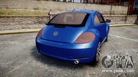 Volkswagen Beetle A5 Fusca for GTA 4 back left view