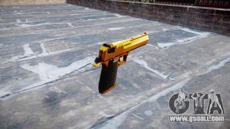 Gun IMI Desert Eagle Mk XIX Gold for GTA 4 second screenshot