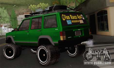 Jeep Cherokee 1998 Off Road 4x4 for GTA San Andreas left view