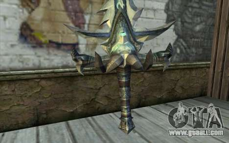 Sword from World Of Warcraft-Frostmourne for GTA San Andreas second screenshot