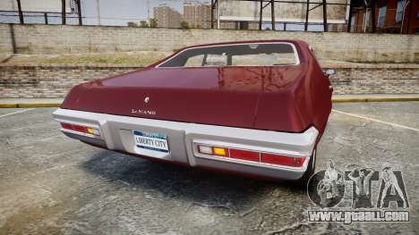 Pontiac Le Mans 1971 Rims1 for GTA 4 back left view