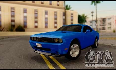 Dodge Challenger SXT Plus 2013 for GTA San Andreas