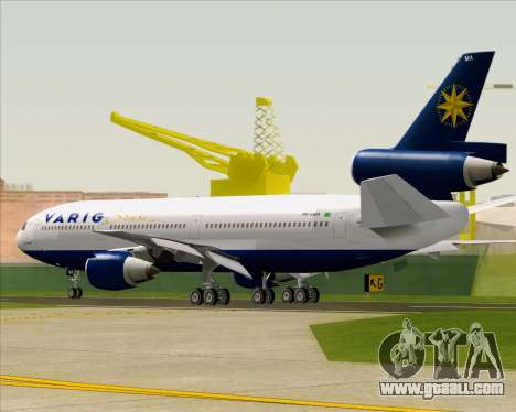 McDonnell Douglas DC-10-30 VARIG for GTA San Andreas back view